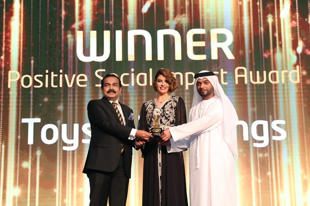 Toys With Wings Awarded 'Positive Social Impact' at the Etisalat SMB Awards 2018