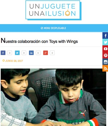 Our Collaboration With the Spanish Charity Campaign 'Un Juguete Una Ilusion' in Jordan